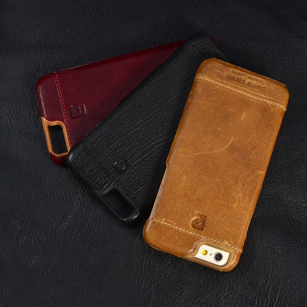 Pierre Cardin Luxury Genuine Leather Case For iPhone XS X SE 5 5S 6/6S Plus iphone 7/7 Plus 8/8 Plus Back Cover Free Shipping