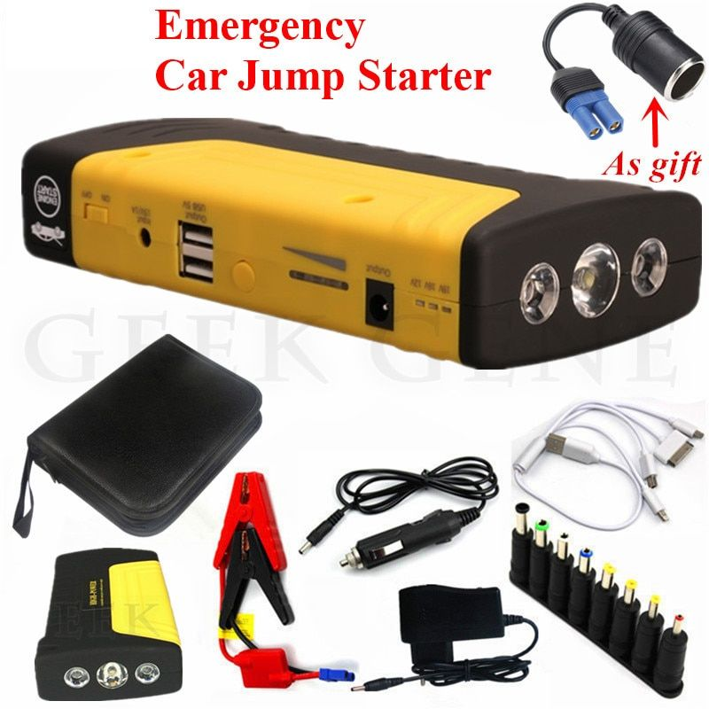 Car Jump Starter 12V 600A Portable Starter Power Bank Petrol Diesel Starting Device Car Charger For Car Battery Booster Buster