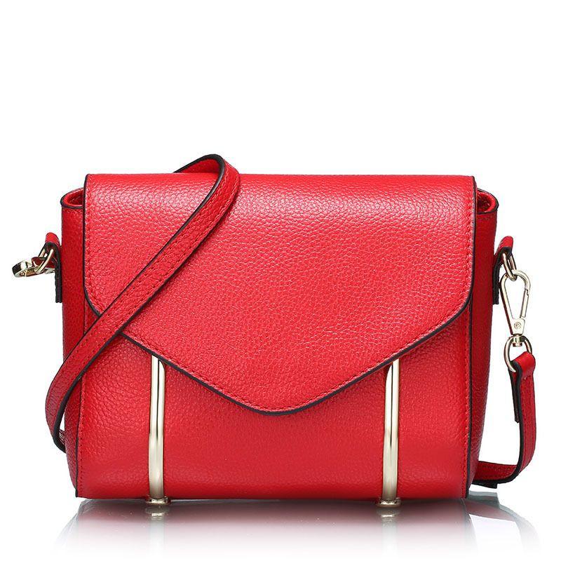 2017 Genuine Leather Bags Women Real Leather Luxury Handbags Bags Designer Brand Main Ladies Crossbody Shoulder MONBag Bolsas