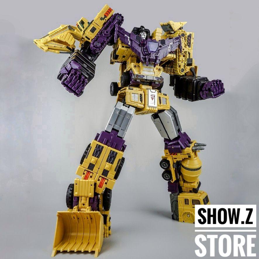 [Show.Z Store] Toyworld TW-C07B Constructor Devastator Yellow Set of 6 Transformation Action Figure