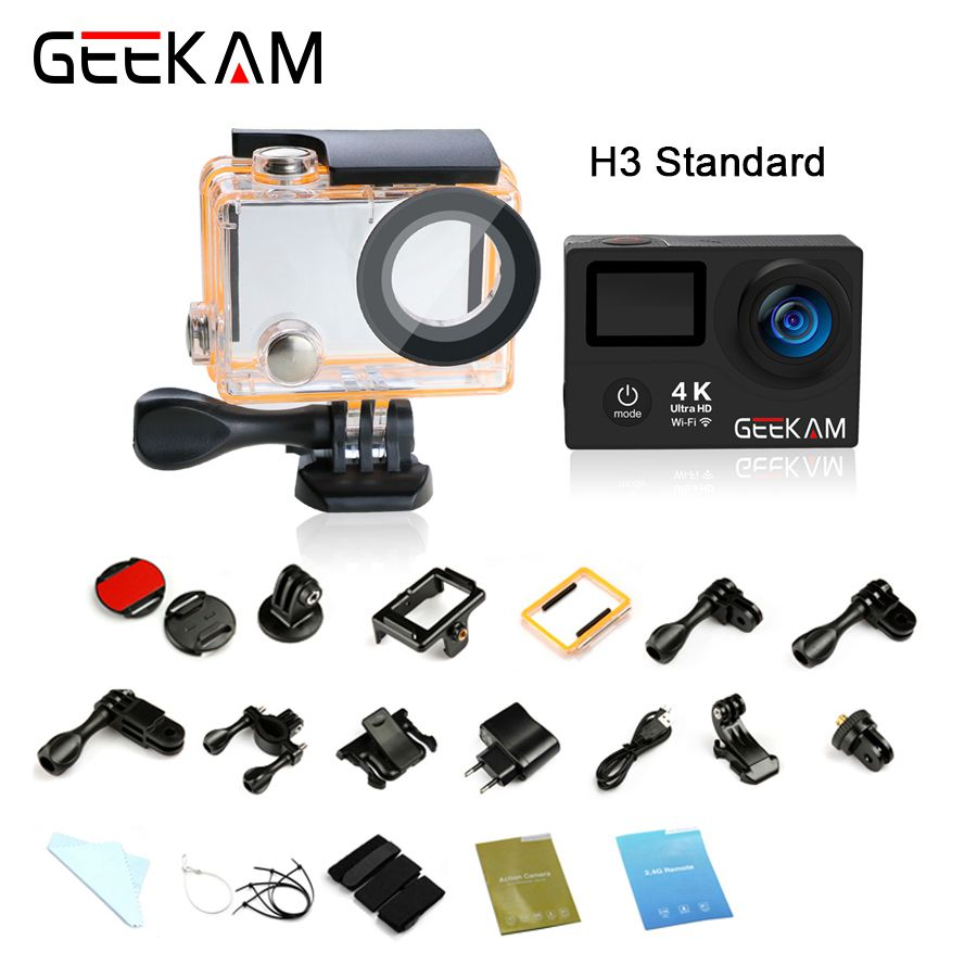 Original GEEKAM H3R H3 action camera 4K wifi Ultra HD 1080p60fps 720P120FPS pro waterproof mini cam bike video sports camera