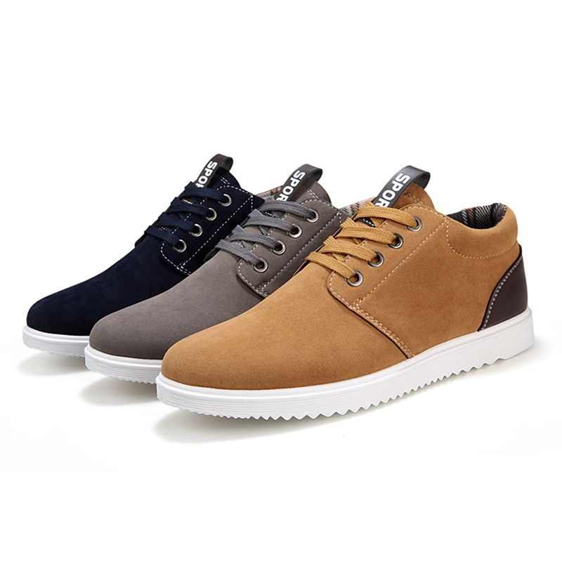 Autumn Men's Skateboarding Shoes Sneakers Lace Up Leisure Style Anti Slippery Outdoor Sport Shoes For Man Fitness Walking Shoes