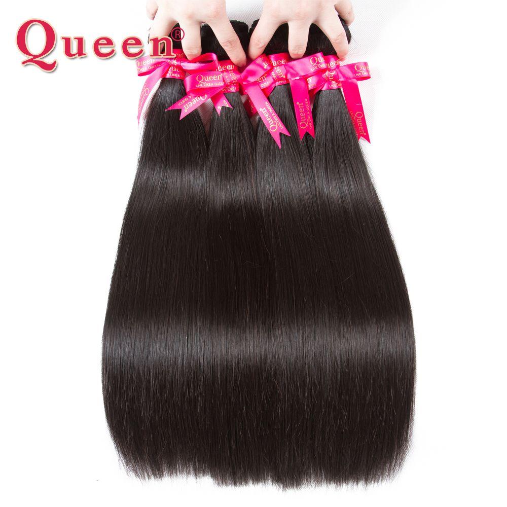 Reine Produits Capillaires Péruvienne Droite Bundles Cheveux 100% Remy de Cheveux Humains Weave Extensions 1/3/4 Bundles Peut acheter Avec Fermeture