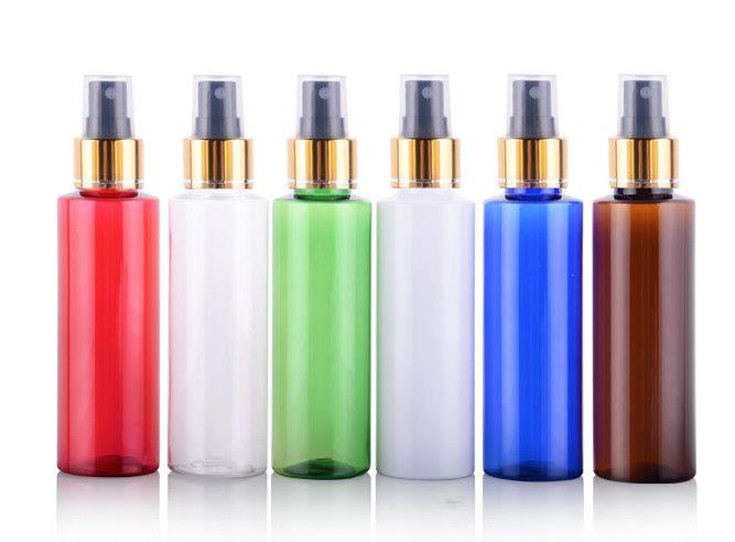 100 ml assortiment vide bouteille voyage lotion brillant doré métal brouillard pulvérisateur rechargeable bouteille échantillon bouteilles réutilisation bouteille couleur