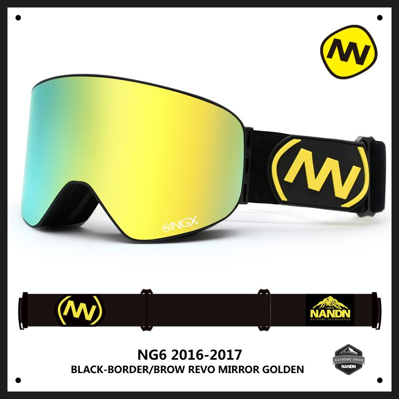 NANDN NG6 Men Women Professional Ski Goggles Anti Fog Double Lens Skiing Snowboard Snow Motorcross Goggles Eyewear 10 Colors