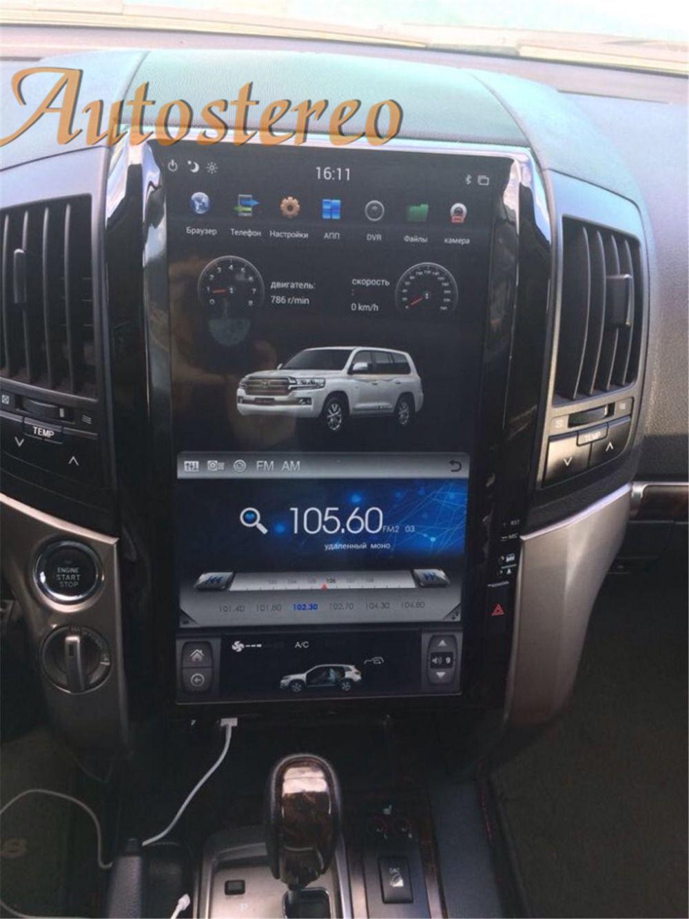 16 zoll Tesla stil Auto keine DVD-Player GPS Navigation auto Radio für TOYOTA LAND CRUISER LC200 2008-2015 PLUS stereo multimedia