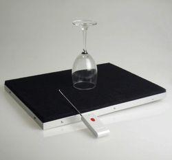 Breaking Glass Tray Pro-Remote Control, trik sulap, aksesori, kaca sihir