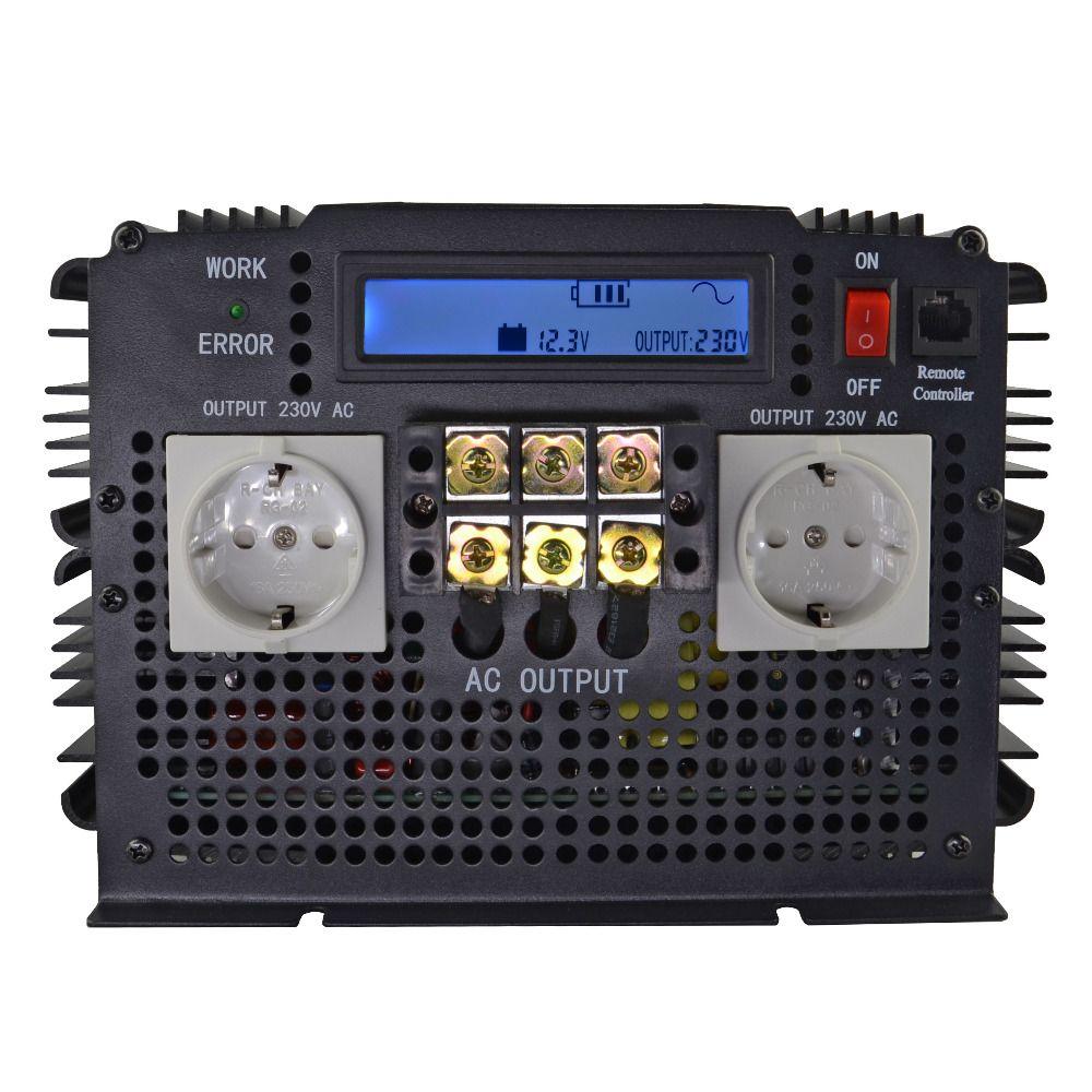 Modernsten LCD Display 3500 W REINE SINUS WELLE INVERTER 12VDC zu 220VAC (7000 W PEAK) DC Zu AC outdoor home frequenz inverter