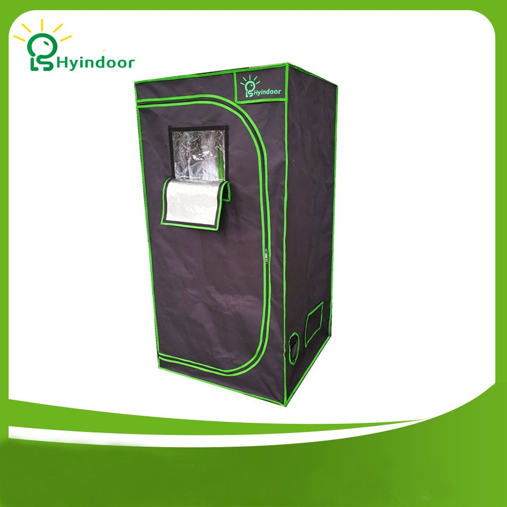 Hyindoor Garden Supplies Greenhouses Hydroponics 100*100*200(39*39*78 Inches) Reflective Mylar Non Toxic Grow Tent Room Shed