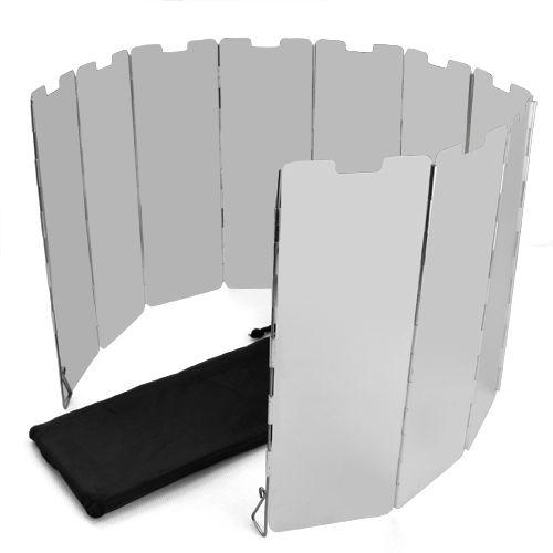 ELOS-10 poches de Pliage Camping Cuisinière Cuisinière À Gaz Vent Bouclier Écran Pliable Extérieure