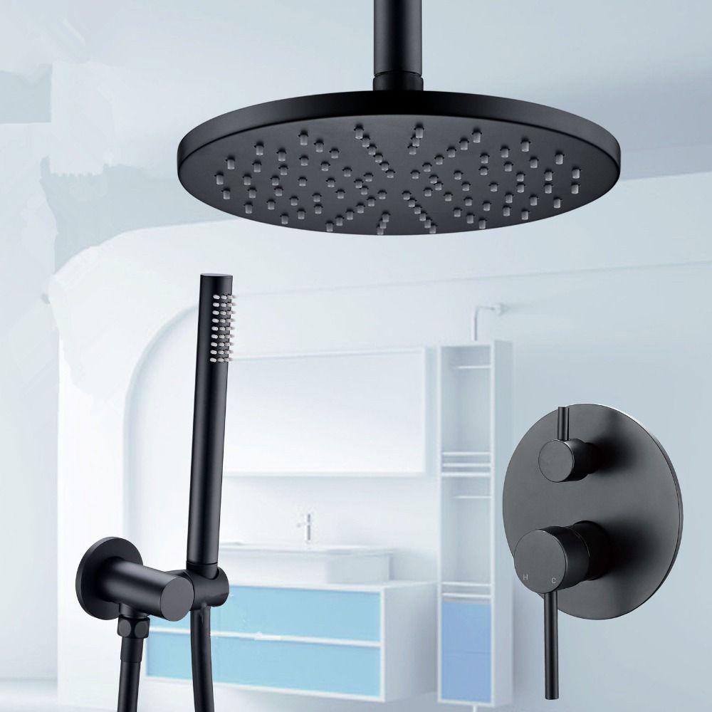 Ensembles de douche système en gros robinet de salle de bain de luxe Rose noir 8-16