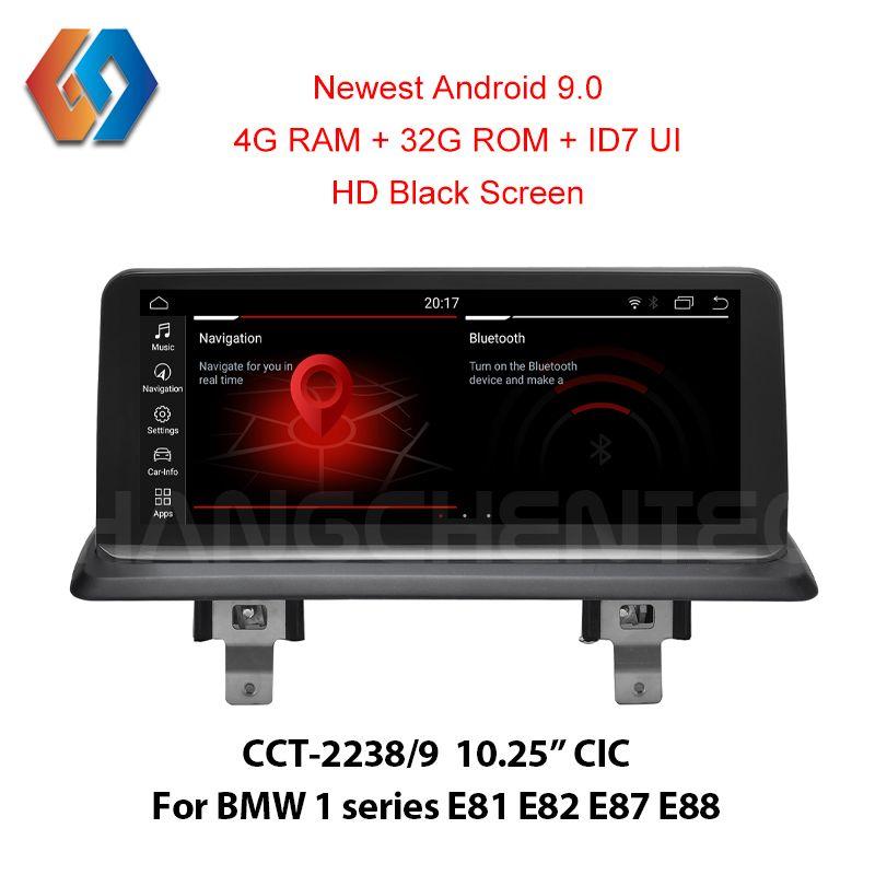 ID7 4G Android 9 Bildschirm für BMW 1 serie E81 E82 E87 E88 CCC Auto Multimedia GPS Navigation Unterstützung OEM iDrive BT Kamera PDC SWC