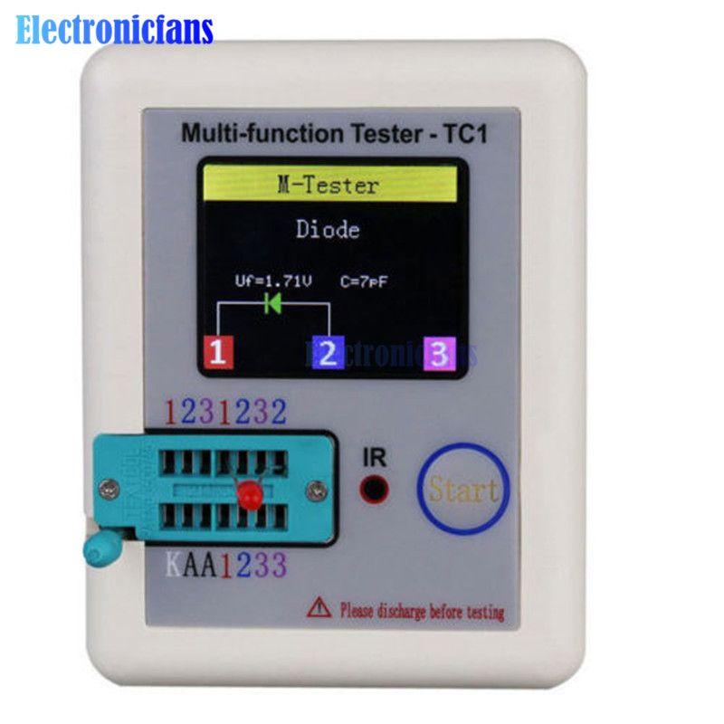 TFT TC-1 Diode Triode Kapazität Meter Transistor Tester LCR ESR Meter NPN PNP MOSFET IR Multifunktions Tester Multimeter