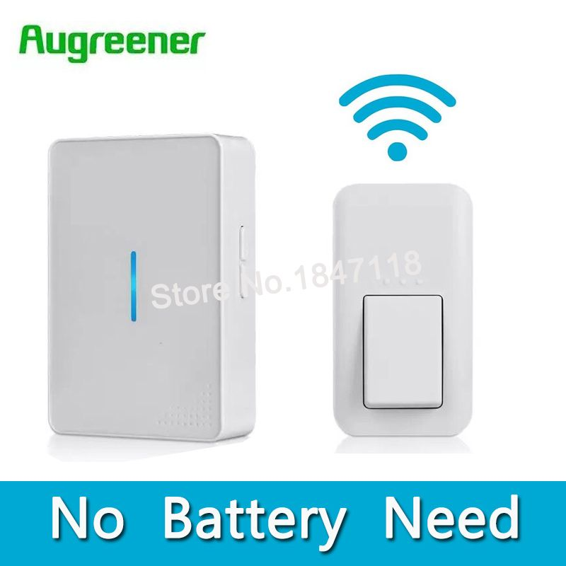 New EU/US/UK No Battery Need Waterproof Wireless Doorbell Home Led Light Digital <font><b>Electronic</b></font> Door Bell With Push Button Doorbells