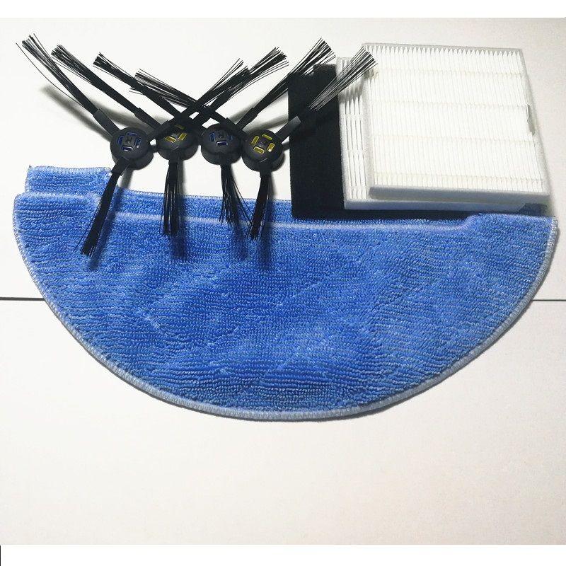 Aspirateur HEPA filtre côté brosse vadrouille chiffon pour ILIFE X750 V8S V80 V8 robot aspirateur pièces accessoires brosses