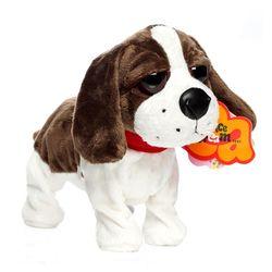 Elektronik Hewan Peliharaan Kontrol Suara Anjing Robot Kulit Berdiri Kaki Interaktif Lucu Mainan Anjing Elektronik Husky Peking Duck Mainan untuk Anak-anak
