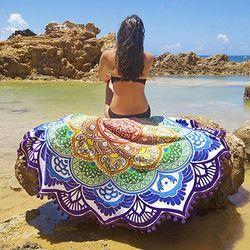 Bohème Mandala Gland Plage Ronde Tapisserie Hippie Jeter Roundie Yoga Serviette De Tapis