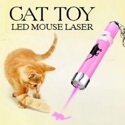 المحمولة الإبداعية ومضحك الحيوانات القط اللعب قاد مؤشر ضوء الليزر القلم مع مشرق المتحركة الماوس الظل