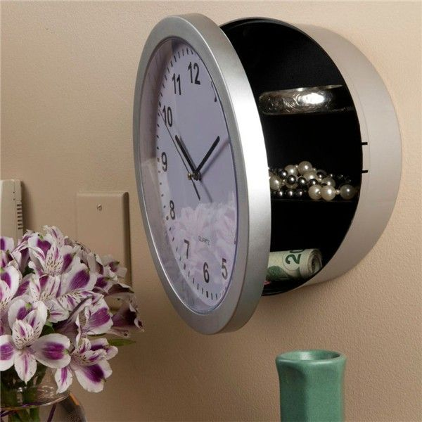NEW Wall Clock Hidden Secret Safe Box for Cash Money Jewelry Storage Security Safes