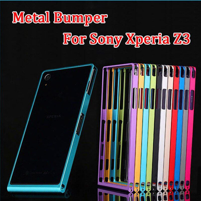For Sony Z 3 Dual Bumper Case Metal Aluminum Frame Case Cover for Sony Xperia Z3 D6603 D6613 D6653 D6683 / Z3 Dual D6633 5.2