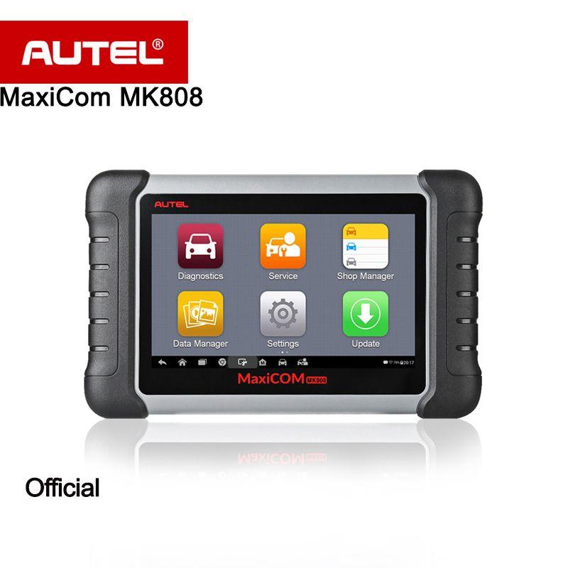 Autel Original MaxiCOM MK808 Diagnostic Tool 7-inch LCD Touch Screen Ambient light sensor for brightness auto adjust