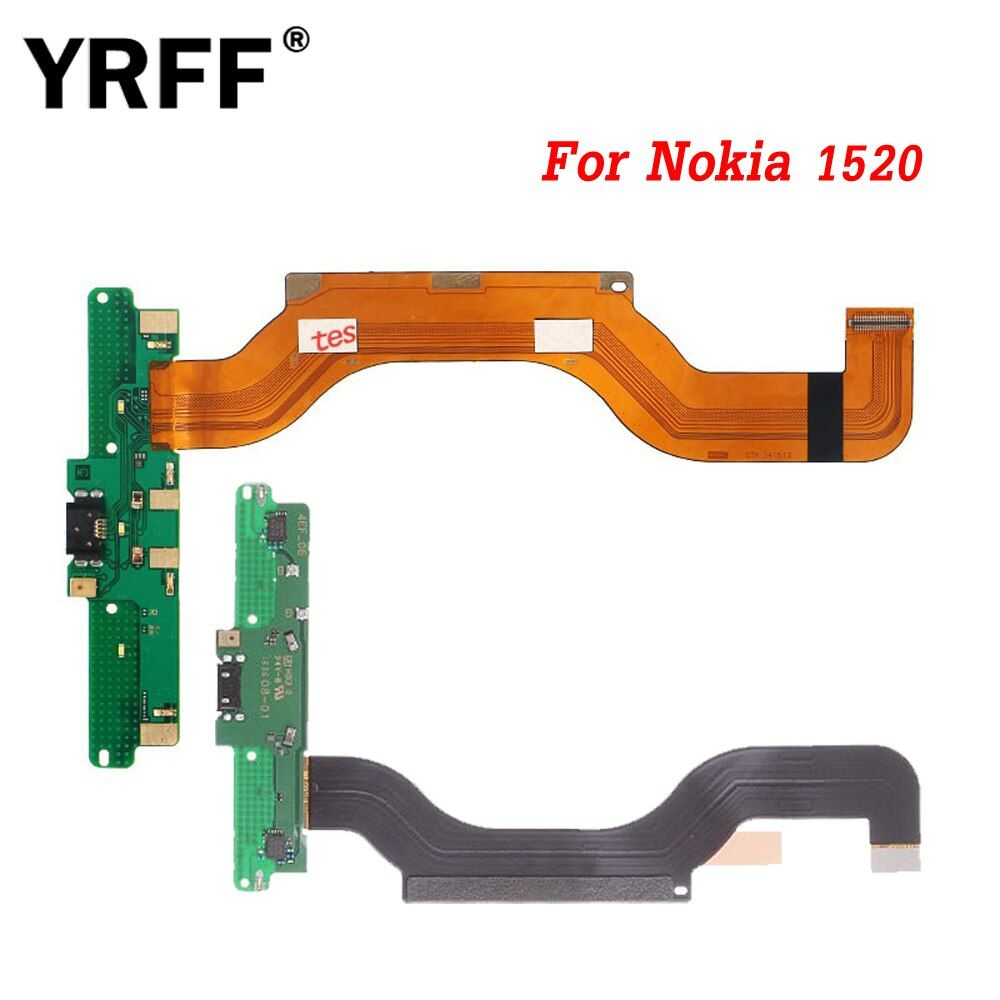 YRFF Flex Cable For Nokia Lumia 1520 N1520 Charger Dock Flex USB Charging Port Connector Flex Cable Ribbon Parts