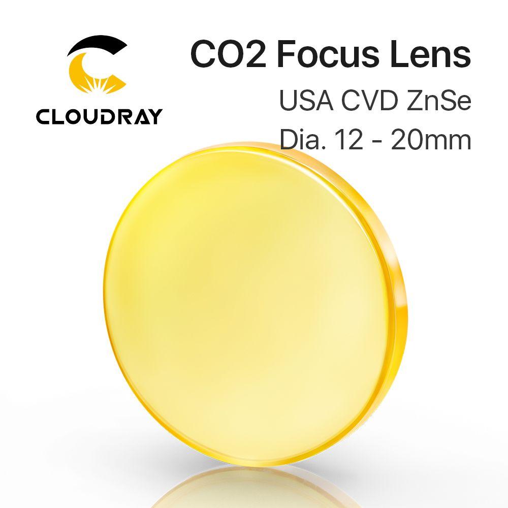 Lentille de focalisation USA CVD ZnSe DIA 12 15 18 19.05 20 FL 38.1 50.8 63.5 76.2 101.6 127mm pour CO2 Laser Gravure Machine De Découpe