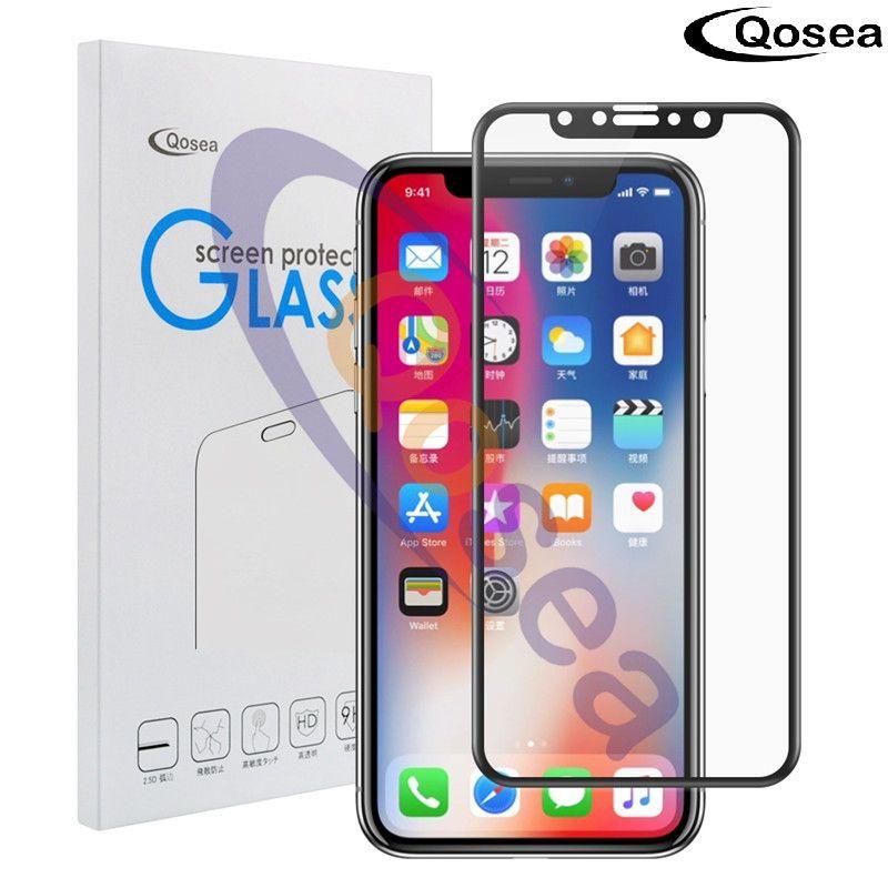 Pour iPhone X 10 verre trempé 9 H galvanisé 4D rond bord incurvé complet pour iPhone onex 10 2017 Film protecteur d'écran couverture de sécurité