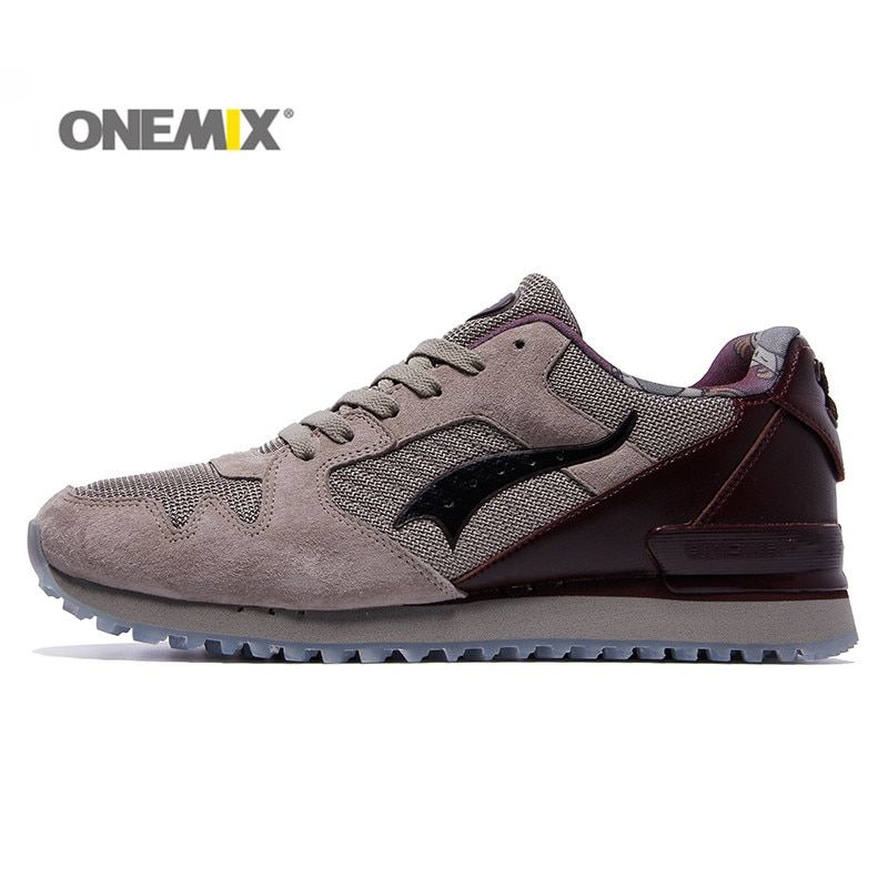 Onemix men & women classic retro running shoes lightweight sneakers for outdoor sports walking sneakers jogging trekking shoes