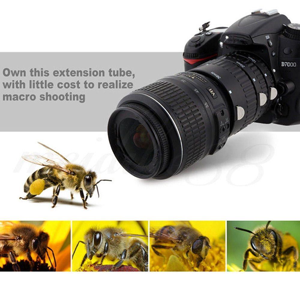 SHOOT Auto Focus Macro Extension Tube Set for Nikon D3200 D3300 D5200 D7100 D5300 D7200 D7000 D3100 D90 D5100 D5500 Digital SLR