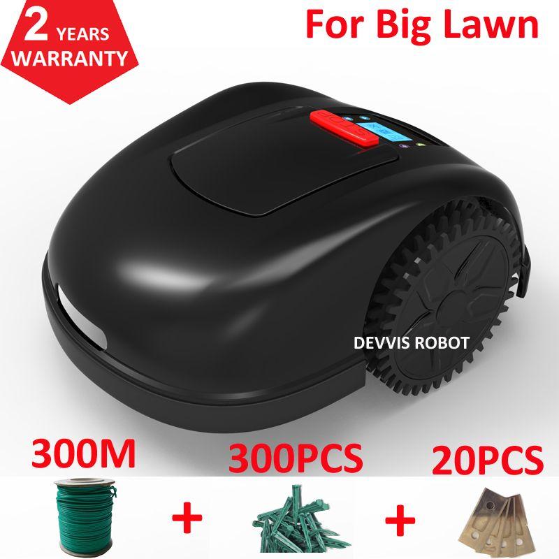 Zwei Jahre Garantie Smartphone APP Contorl Smart Robot Grass Cutter Mit 13.2AH Li-Ion Batterie + 300 m draht + 300 stücke pegs + 20 stücke Klinge