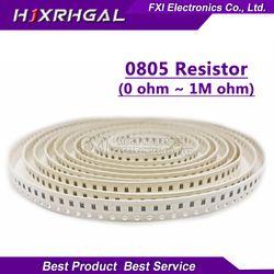 100Pcs 0805 SMD 1/4W 0R ~ 10M Resistor Chip 0 10R 100R 220R 330R 470R 1K 4.7K 10K 47K 100K 0 10 100 330 470 Ohm