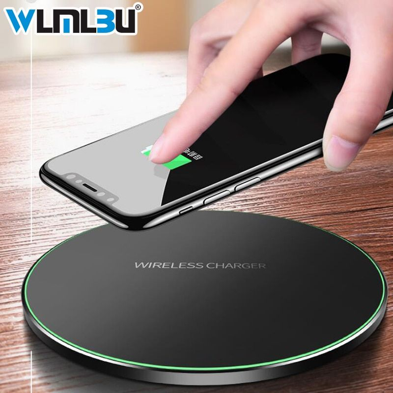 WLMLBU 10 w Qi Sans Fil Chargeur pour iPhone X/8 Visible Rapide Sans Fil De Charge pad pour Samsung S9/ s9 + S8 Note 9 9 + 8 Xiaomi Huawei