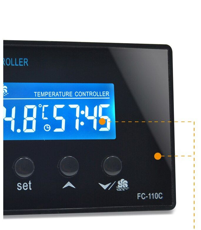 La sortie de relais de 10A 220 V contrôle le contrôleur de Thermostat de Sauna avec le capteur de NTC