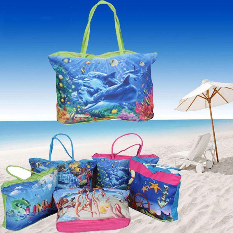 Nouvelle arrivée vente chaude grande capacité coloré belle photo sac à main femme décontracté sac de plage sac à provisions pour dame