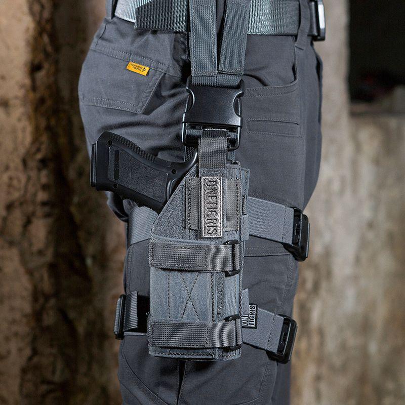 OneTigris Tactical Molle Drop Leg Platform & Handgun Pistol Holster Airsoft Paintball Right Handed Holster