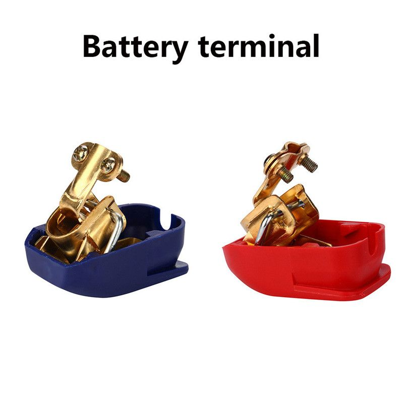 Car-styling 2x Battery Quick Terminals Battery Terminals Battery Terminal Car Boot Red Blue car accessories