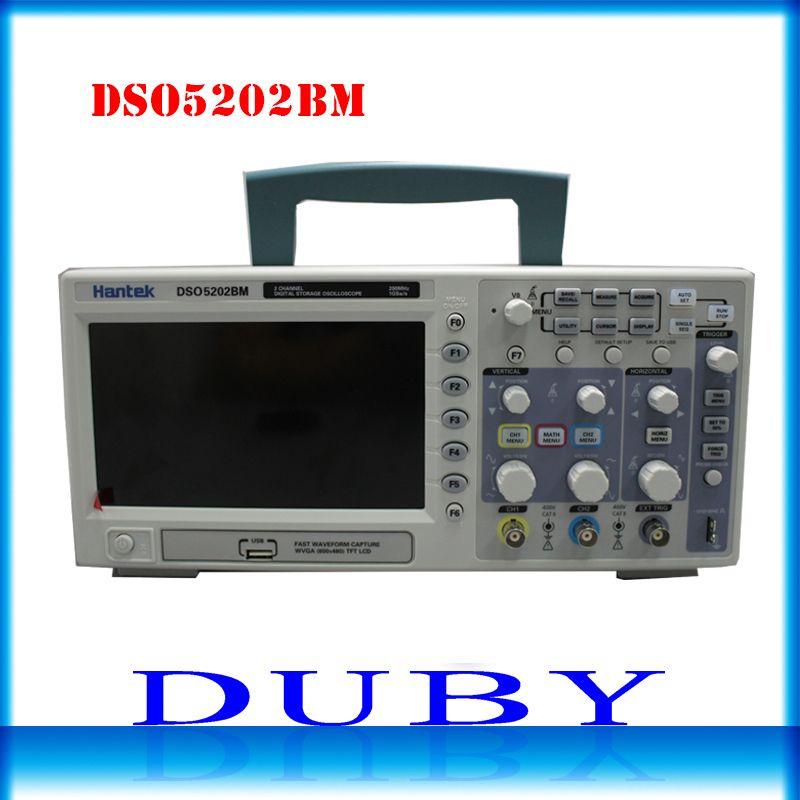 Hantek DSO5202BM Digital Automotive Oscilloscope USB Lcd Display Benchtop Osciloscopio 200MHz 2 Channels 1GSa/s 2M Record Length