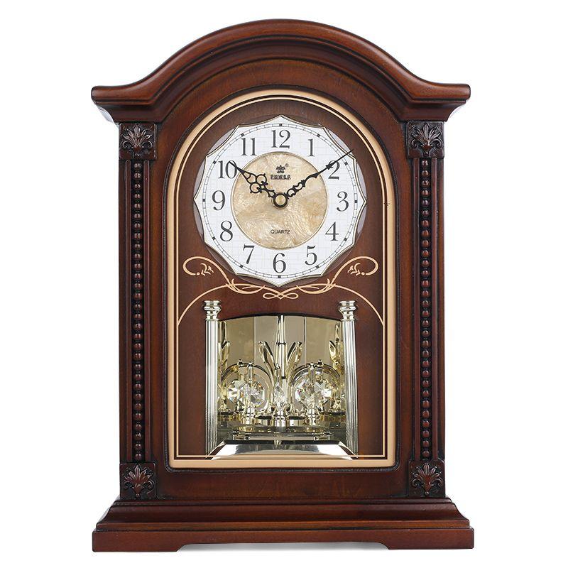 Puissance nouvelle horloge De Table en bois silencieux Quartz mouvement horloges De bureau cristal Masa Saati Relogio De Mesa musique horaire carillon Saat