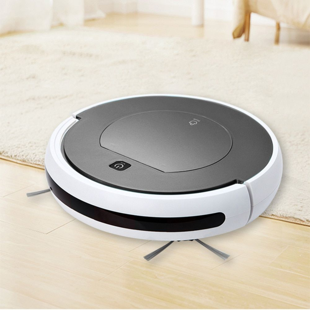Robot Vacuum Cleaner Home Robotic Vacuum Cleaner Clean Sweeping Machine Intelligent Infrared Remote Control with 1000PA Suction