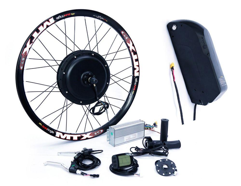 Lange abstand 48 v 1500 watt hinterrad electric bike conversion kit mit 48 v 17ah lithium-batterie pack