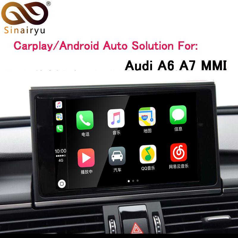 Sinairyu OEM Apple Carplay Android Auto Lösung A6 S6 A7 MMI Smart Apple CarPlay Box IOS Airplay Retrofit für Audi