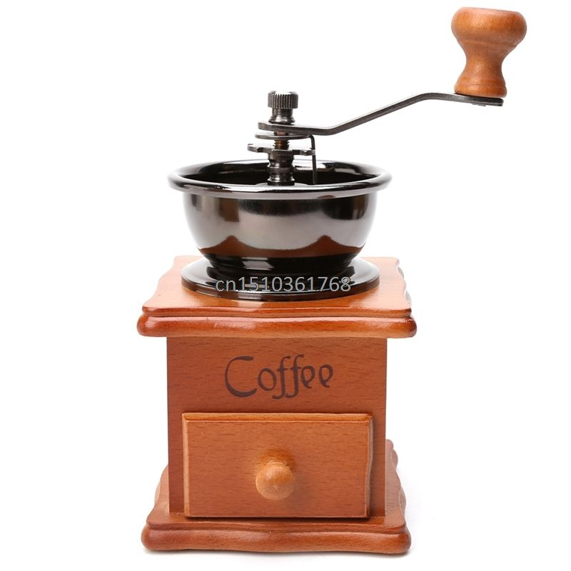 Wooden Stainless Steel Hand Grinder Manual Coffee Beans Spice Grinding Tool New #Y05# #C05#