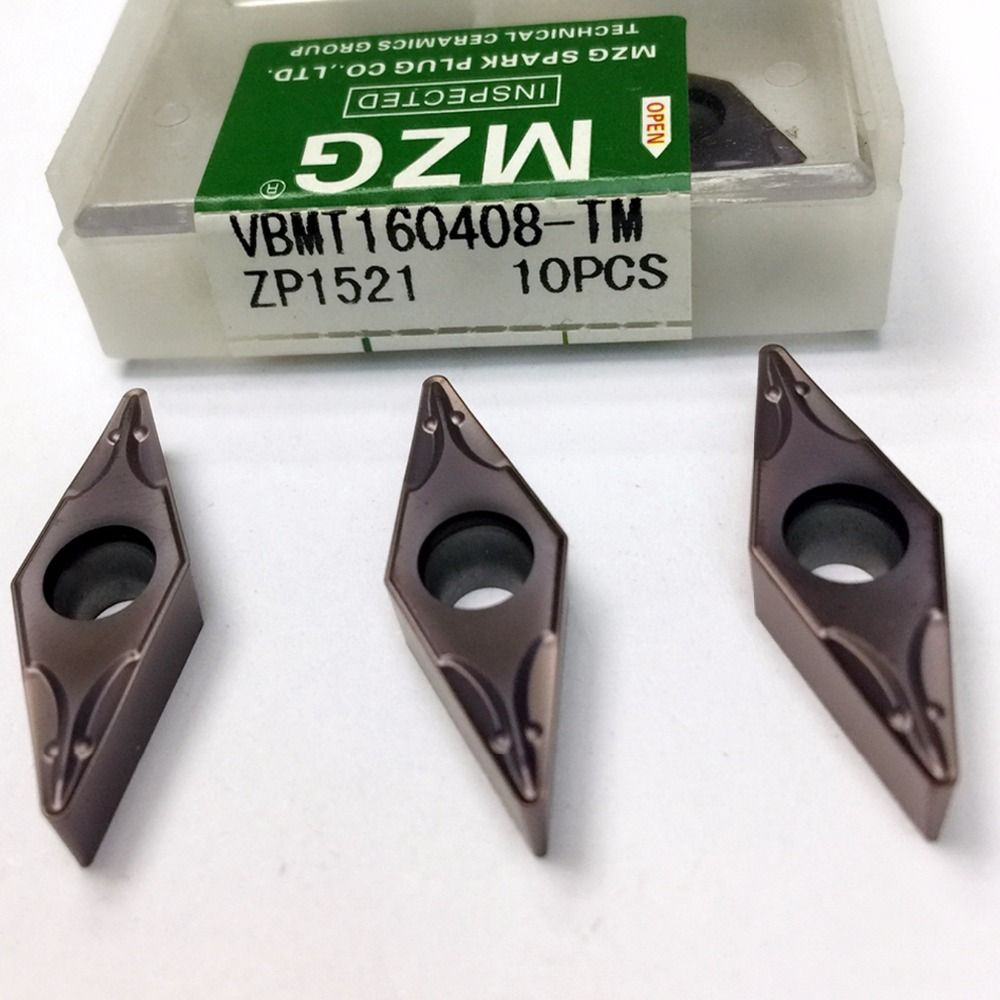 MZG VBMT110304 VBMT160408 TM ZP1521 CNC Cutting Boring Turning Solid Carbide Inserts for Stainless Steel Processing SVXB Holder