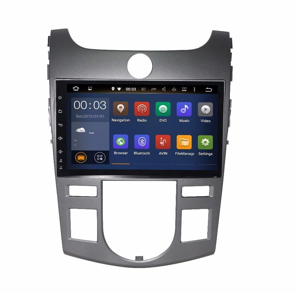9 inch HD Quad core Android 6.0 Car video stereo for KIA CERATO / FORTE/ KOUP 2008-09 -2012 car DVD player with Radio head unit
