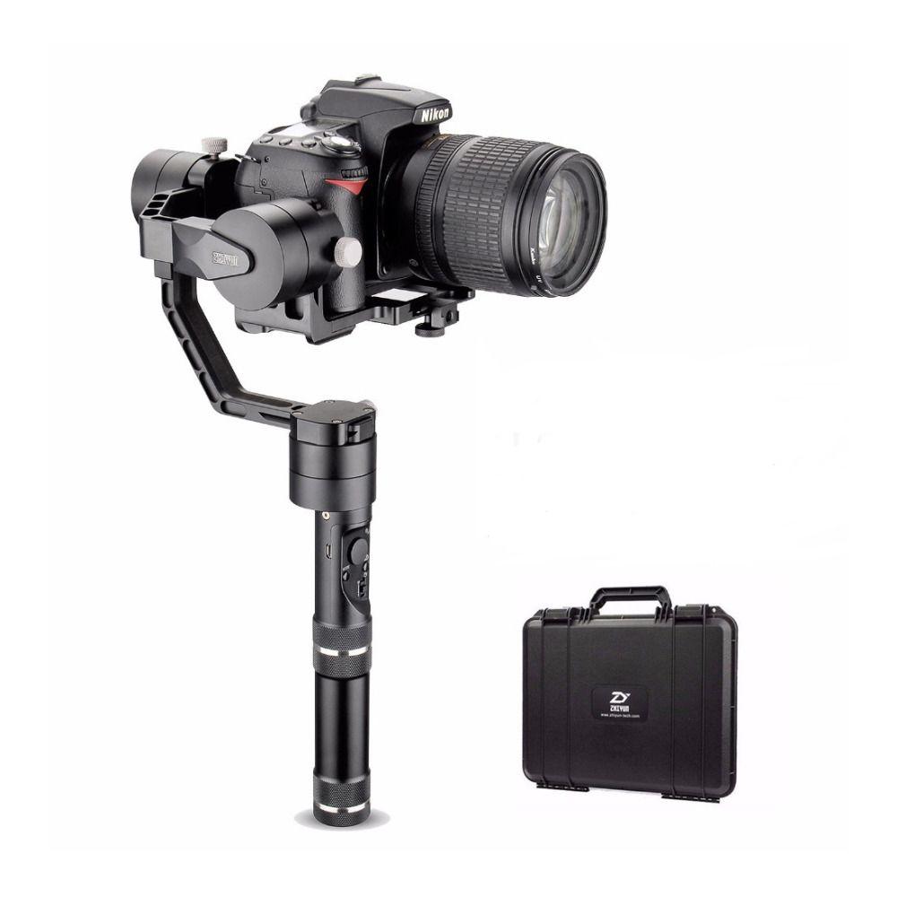 Zhiyun Tech Kran V2 3-achsen Bluetooth Handheld Gimbal Stabilizer für ILC Mirrorless Kameras + Hard Case, Stabilisator für Kameras