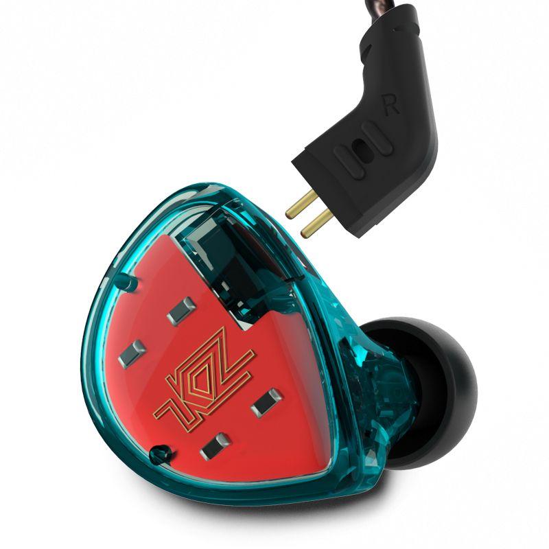 Armature équilibrée KZ ES4 avec écouteurs intra-auriculaires dynamiques casque antibruit avec micro KZ AS10 ZS5 ZS6 ZS10 BA10