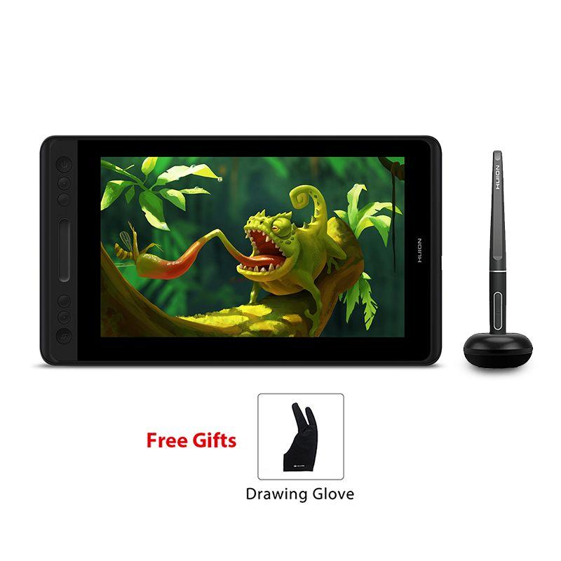 HUION Kamvas Pro 12 GT-116 Batterie-Freies Stift Tablet Monitor Tilt Unterstützung Grafik Zeichnung Pen Display Monitor 11,6 inch mit Handschuh