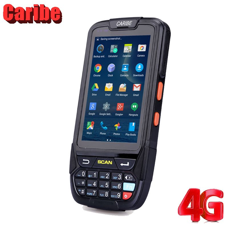 Caribe 1D 2D Laser Barcode Reader Wireless Android PDA Handheld Mobile Terminal Data Collector Handheld Document Scanner