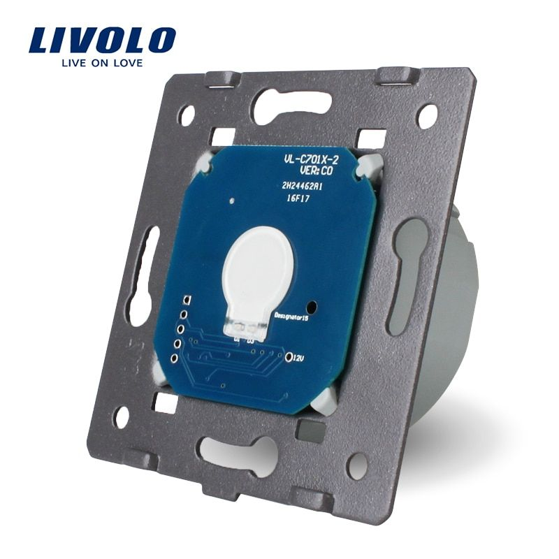Livolo The Base of Touch <font><b>Screen</b></font> Wall Light Switch Free Shipping, EU Standard, AC 220~250V,VL-C701